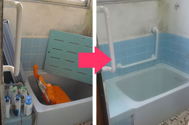 風呂場改修の様子