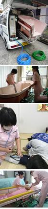 訪問入浴サービスの流れ